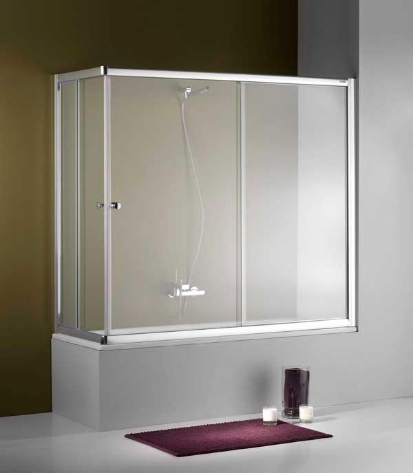 mampara de baño de aluminio en Tarragona